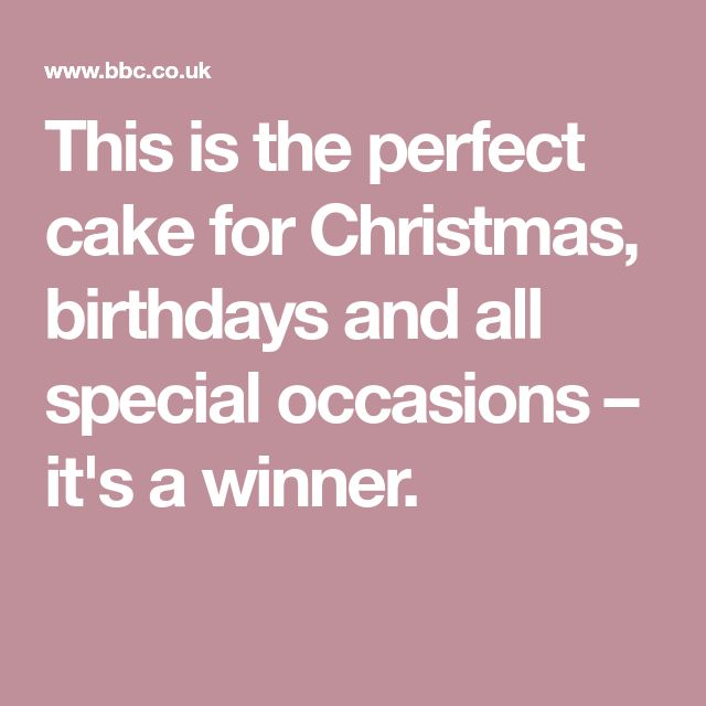 This is the perfect cake for Christmas, birthdays and all special occasions – it's a winner.