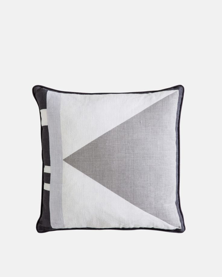 Charlie Square Linen Cushion by Kate & Kate