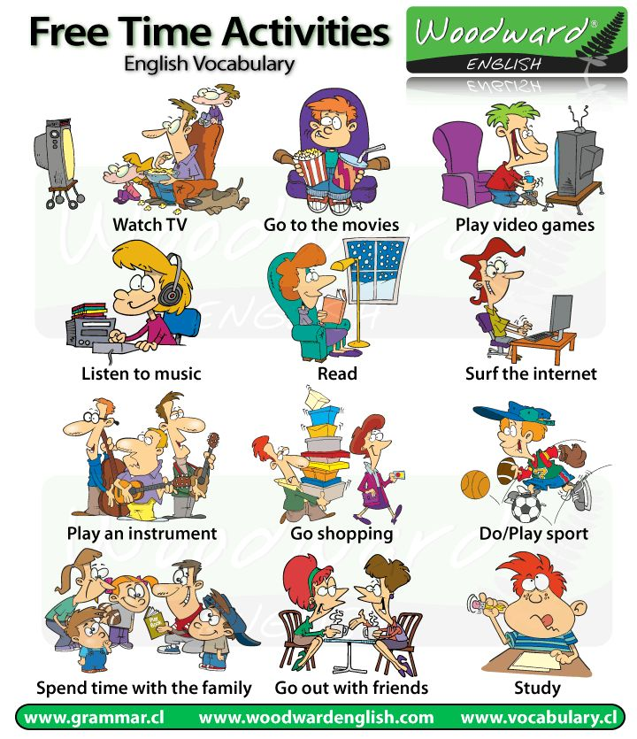 LIST AND WRITE: Perfect for the collection section of your Writer's Notebook: Free time and leisure activities #English (click for paragraph sample)