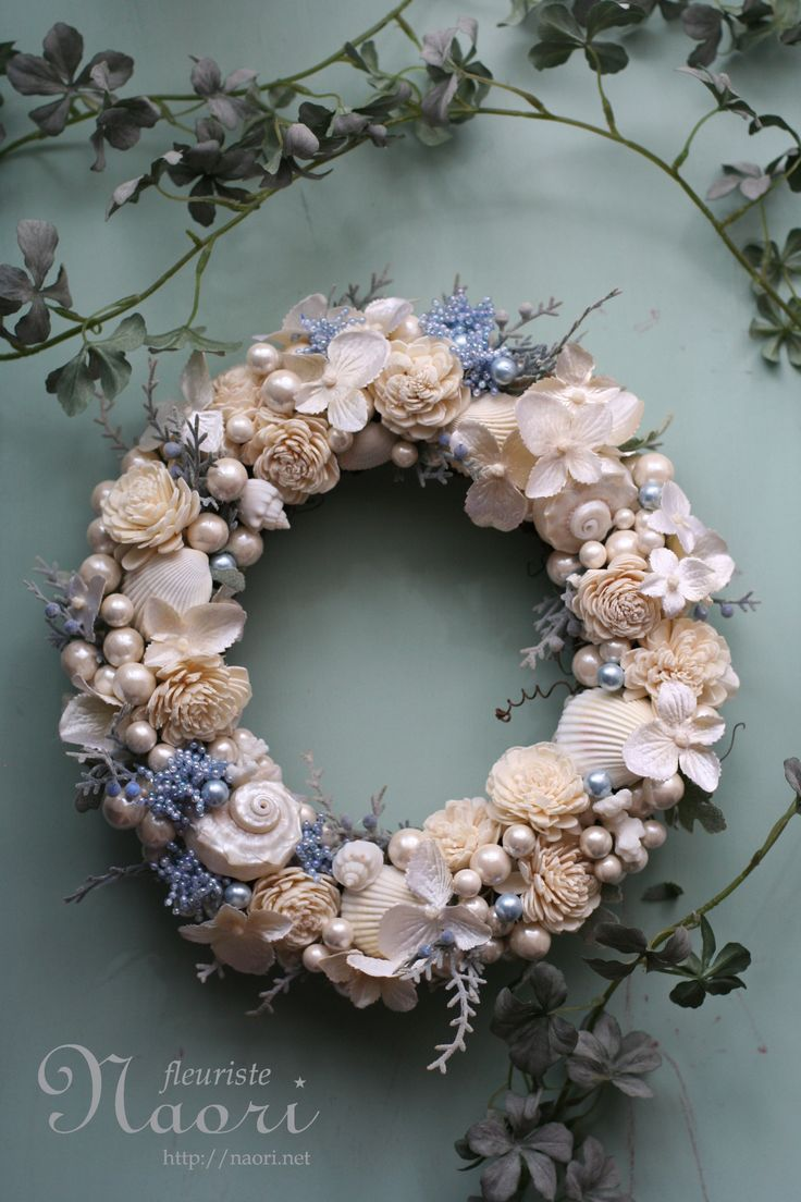 貝殻のリース shell wreath