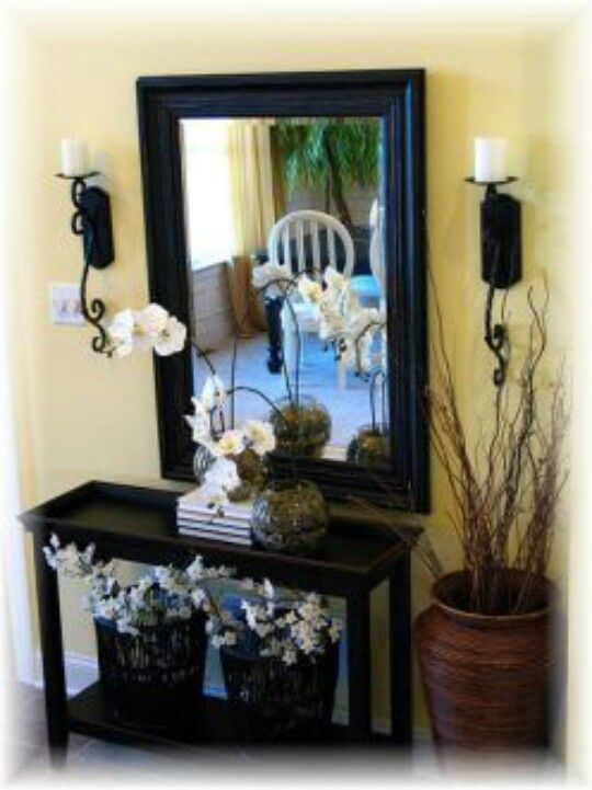 Sunken Foyer Home Decor : Entryway decor living room pinterest the plant