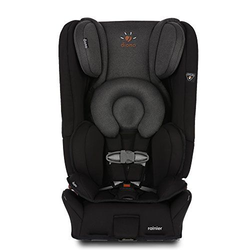 Diono Rainier All-In-One Convertible Car Seat, Black Mist. For price & product info go to: https://all4babies.co.business/diono-rainier-all-in-one-convertible-car-seat-black-mist/