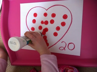 Dot markers - counting in a heart