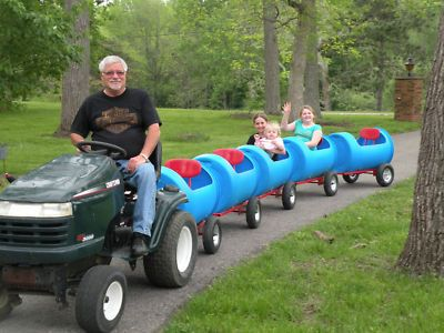 FUN!FUN!  Drum Barrel Outdoor Child Kiddie Ride on Yard Train Car | eBay
