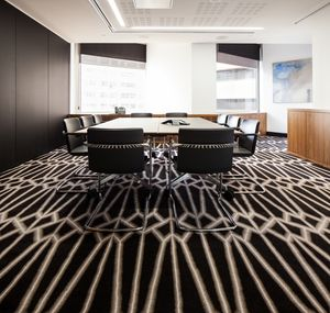 Minter Ellison, Perth. Grey gradation in a geometric pattern. Custom Axminster carpet by Korda Design.