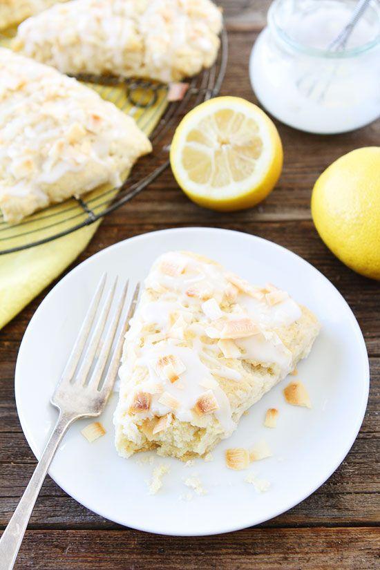 Coconut Lemon Scone Recipe | Two Peas & Their Pod