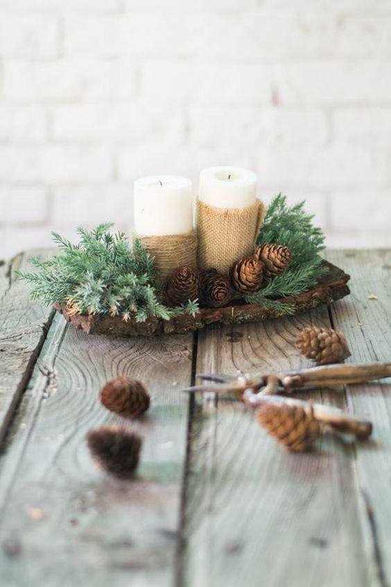 Centro de mesa navide o decoraci n pinterest - Arreglos navidenos para mesa ...
