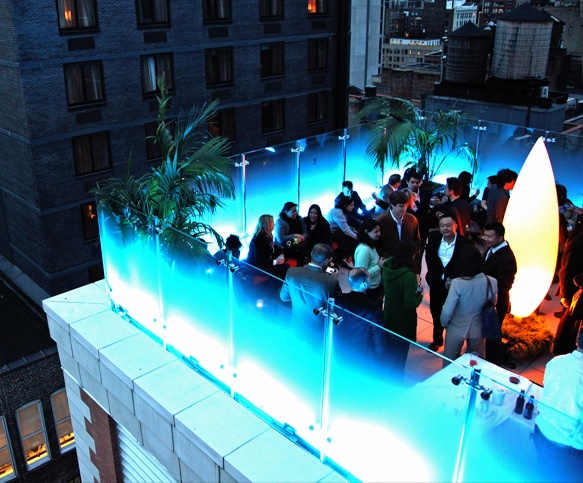 New York City Rooftop Bar: Glass at the Indigo Hotel