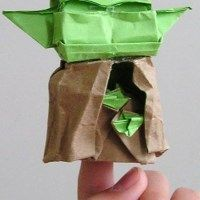 Finally! Instructions for folding an Origami Yoda like the one on the cover! | OrigamiYoda