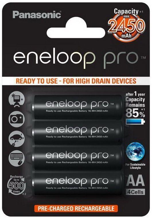 Piles AA Panasonic Eneloop Pro - 2500mAh