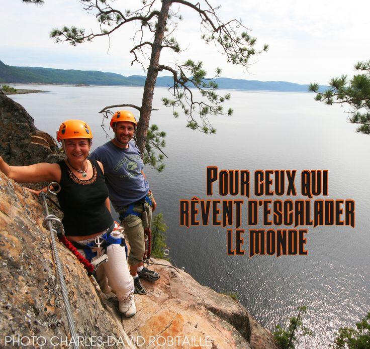 Raison no.51 pour visiter le Saguenay-Lac-Saint-Jean cet été : Pour ceux qui rêvent d'escalader le monde. #175raisons #QcOriginal