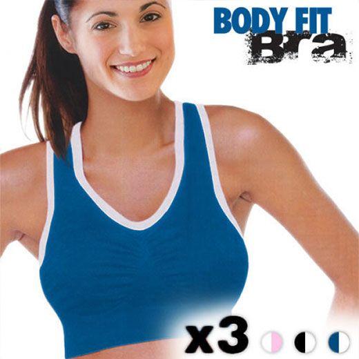 Αθλητικό Σουτιέν Body Fit Bra (3 τεμάχια)