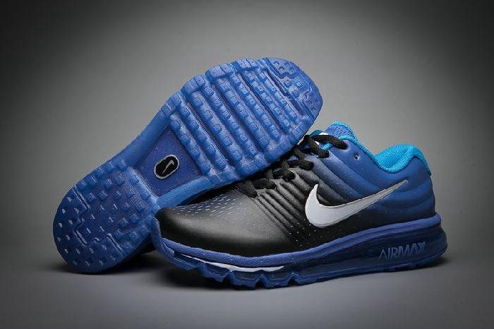 Nike Air Max 2017 Leather Black Roya Blue Sneakers  2e30ce488e
