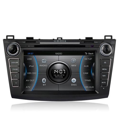 CASKA 8 Inch HD Touch Screen Car In-Dash DVD Player 2 Din Car PC Stereo Head Unit GPS Navigation+Bluetooth+Radio+Multimedia System for Mazda 3