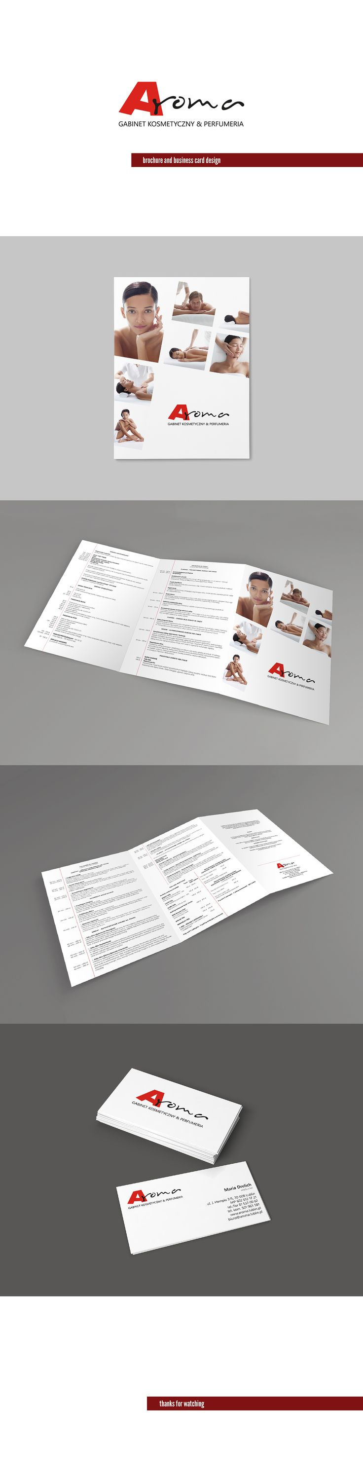 Aroma brochure and business card design on Behance