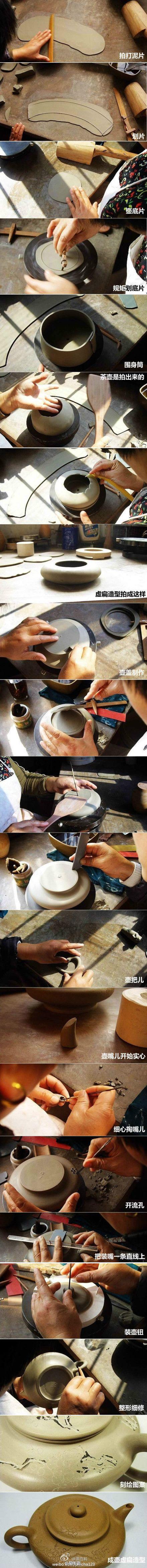 fabrication  théière à partir d'une bande