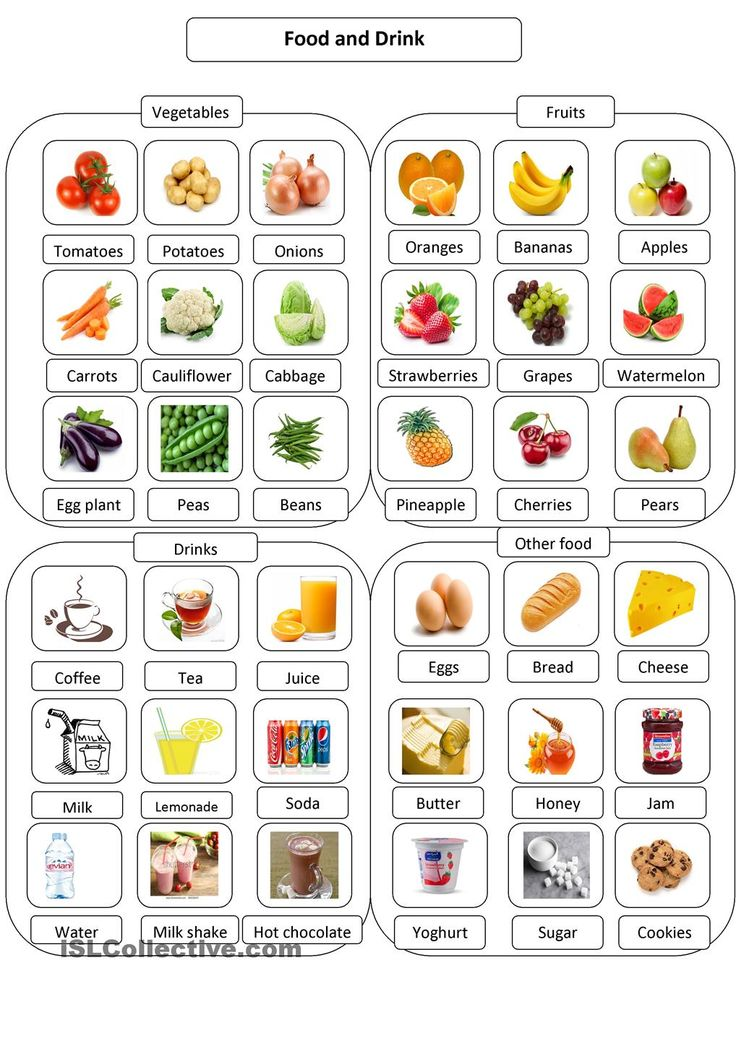 Food pictionary | Vocabulary | Pinterest | Student ...