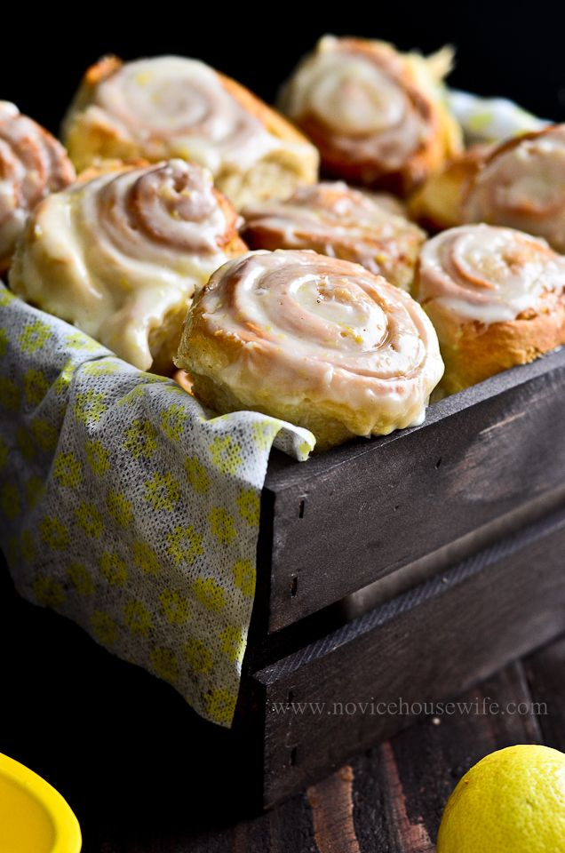 Lemon Rolls - what a nice surprising change from the normal (but wonderful) cinnamon rolls! Can't wait to make these!