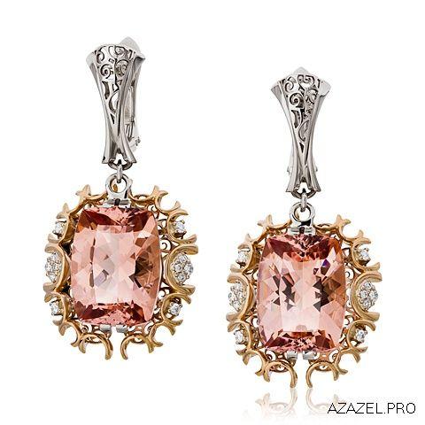 Серьги с Морганитом Earrings with Morganite  #earrings #moscow #алмаз #москва #morganite #красота #бриллиант #мода #любовь #fashion #серьги #кольцо #jewelry #flowers #ярмарка #цветы #gemstone #exclusive #handmade #эксклюзив #подарок #ювелир #almaz #перстень #diamond #сувенир #галерея #морганит #love #cool