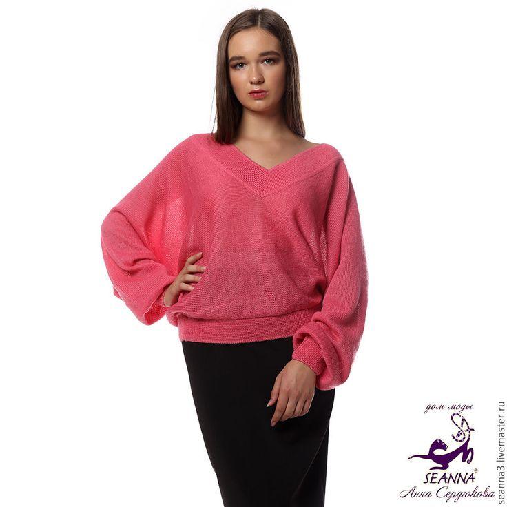 """Купить Джемпер """"Летучая мышь Роза"""" из итальянского мохера все цвета и размеры - шелковый свитер"""