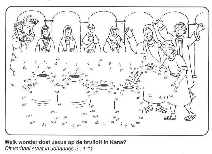 welk wonder doet Jezus op de bruiloft te kana ? van stip naar stip