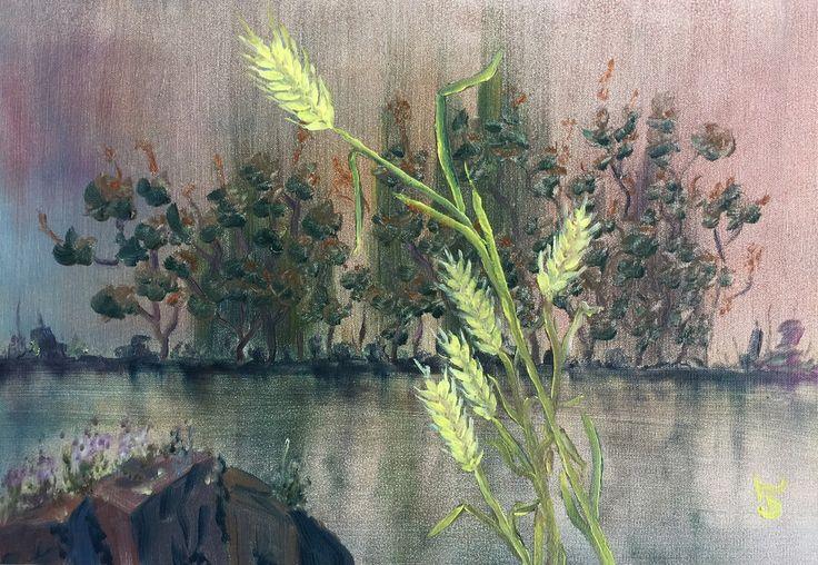 Burçaklar, 35x50, oil&canvas, #gurseltokmakoglu #vetches #artist #artworks #sanat #art #paint #tablo #yağlıboya #oiloncanvas #paintings  #finearts #original #oilpaintings #paintworks #landscape