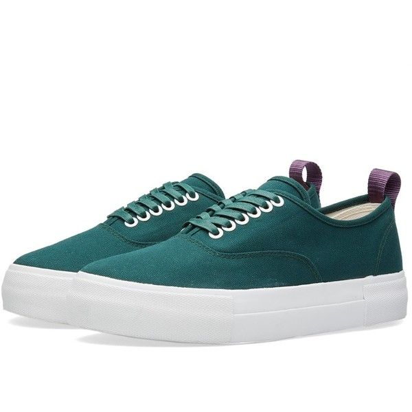 Eytys Mother Canvas Sneaker ($65) ❤ liked on Polyvore featuring men's fashion, men's shoes, men's sneakers, mens purple shoes, mens purple sneakers, mens deck shoes, mens canvas sneakers and mens boat shoes