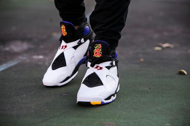 "Air Jordan 8 Retro ""Three-Peat"" - http://goo.gl/xJMFcJ"