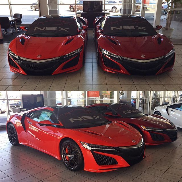 Instagram media by thatphotographer - Left or right? ⬅️➡️ You tell me!  Comment below and tag a friend who would drive an NSX. All for sale at msrp @southcoast_acura. #NSX