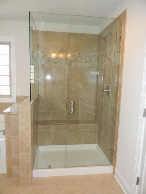 essex homes dal tile shower design board 6 with frameless shower door