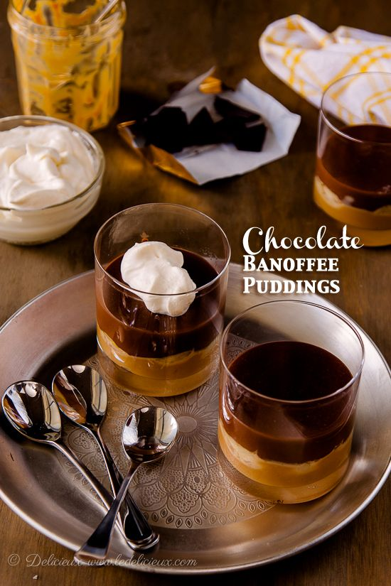 Delicieux » delicious vegetarian & baking recipesChocolate Banoffee Pudding Recipe