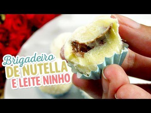 Brigadeiro de Leite Ninho com recheio de Nutella (Vídeo) - Amando Cozinhar - Receitas, dicas de culinária, decoração e muito mais!