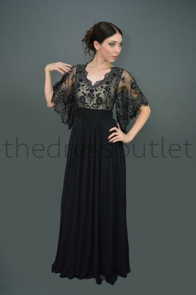 Short Sleeve Long Mother of the Bride Plus Size Formal Dress