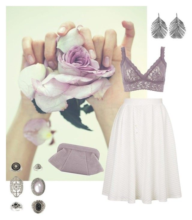 """""""Lilac"""" by gardenofroses on Polyvore featuring Topshop, Lauren Merkin, Hanky Panky and Alex Monroe"""