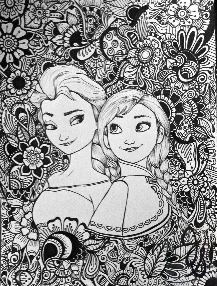 Elsa and Anna Design by byjamierose on Etsy