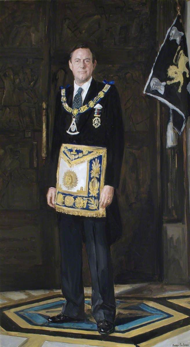 """""""Most Honourable Spencer Compton (b.1946), 7th Marquess of Northampton"""" by Sergei Pavlenko (b1953).  The Library and Museum of Freemasonry"""