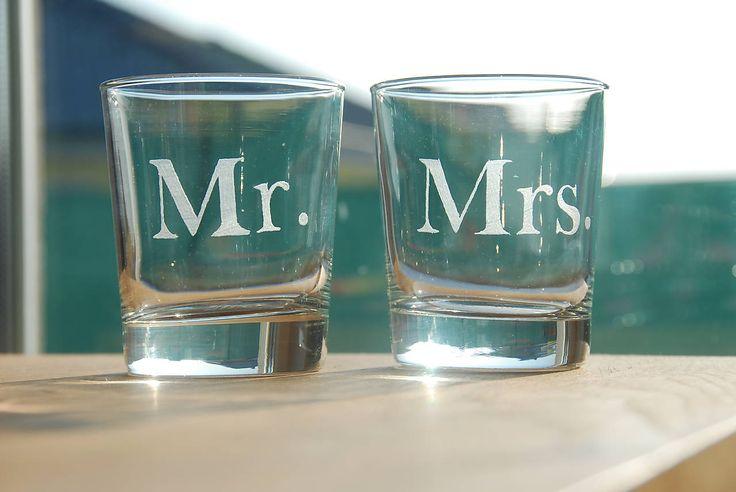 Gravírované poháre Mr & Mrs