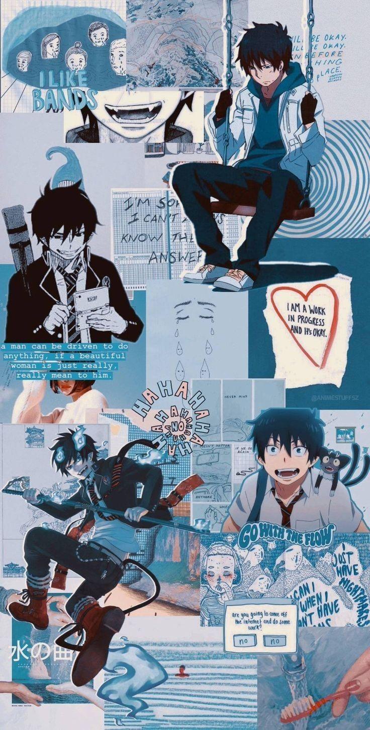 Anime Wallpaper In 2020 Anime Wallpaper Iphone Blue Anime Anime Wallpaper