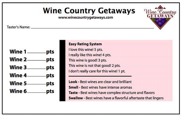 Wine Scoring Sheets Wine Tasting Forms Wine Scorecards - Wine - football score sheet template