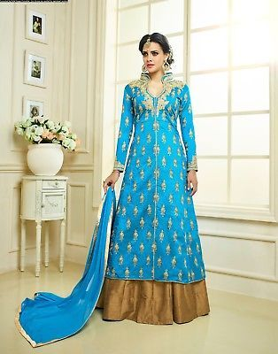 Other Womens Clothing 314: Indian Salwar Kameez Anarkali Suit Pakistani Bollywood Designer Dress Se Us 111 -> BUY IT NOW ONLY: $60.99 on eBay!
