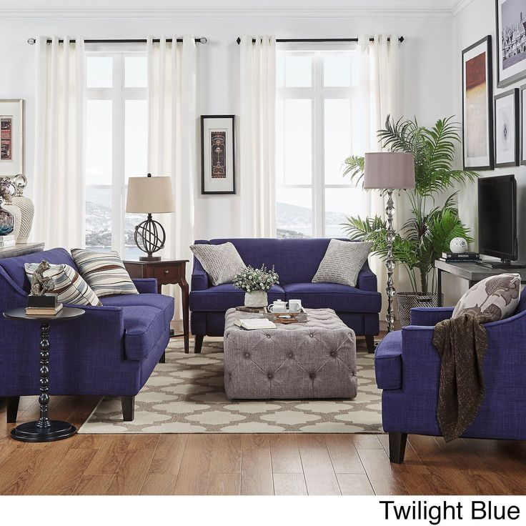 SIGNAL HILLS Winslow Concave Arm Modern 3 Piece Living Room Set |  Overstock.com Part 87