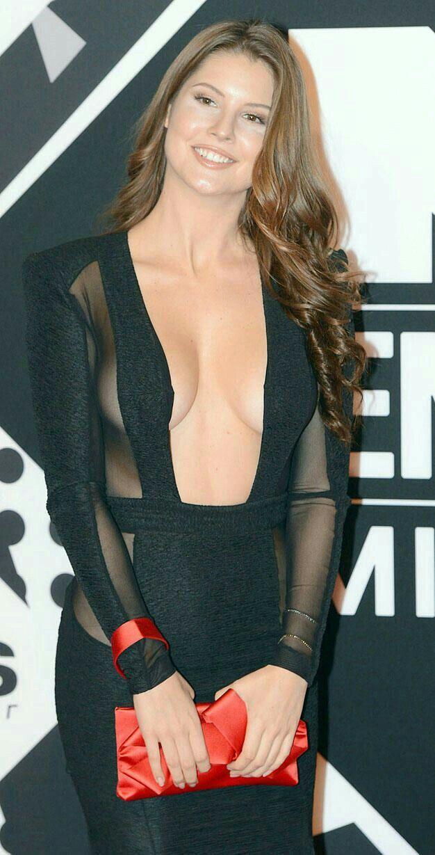 Internet sensation #Amanda Cenry flaunts her assets in long, black transparent dress!! #sexy