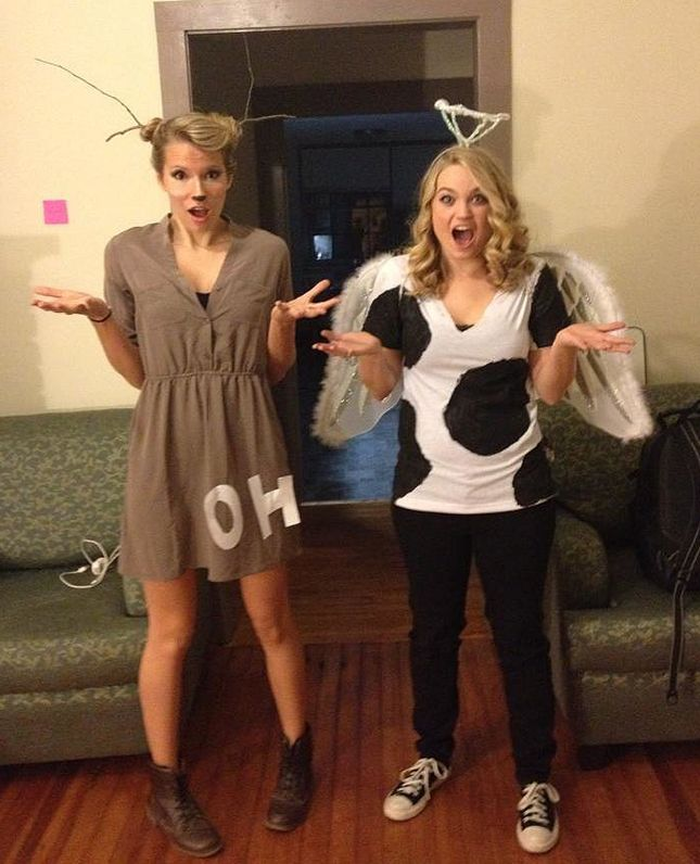 """Holy Cow"" + ""Oh Dear"" costumes are perfect for pun-loving BFFs."