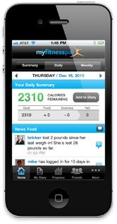 My Fitness Pal for iPhone - The best calorie and exercise tracker I've found!