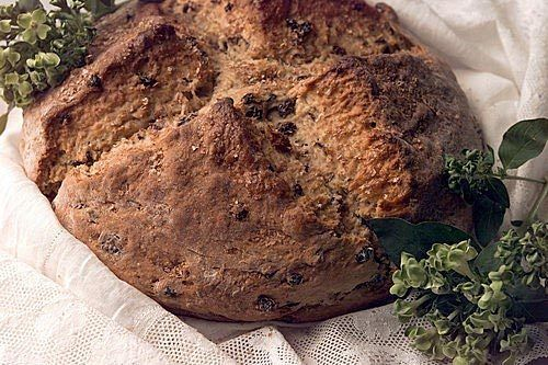 Irish soda bread, dotted with raisins -- and not-so-classical caraway ...