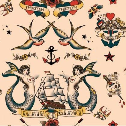 sailor tattoo pattern #piel #shoppiel #inspiration
