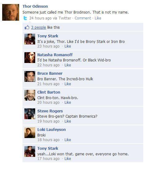 """Yeah... Loki won that. Game over, everyone go home."" :) Internet Site,  Website, Bro, Marvel, Web Site, Funny, Loki Win, Superhero, The Avengers"