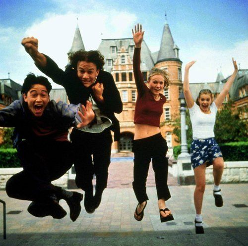 10 things i hate about you. So so '90s.  Based on Shakespeare's Taming of the Shrew.