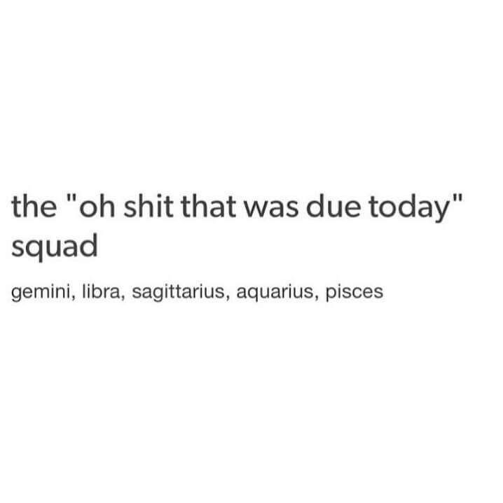 "The ""Oh shit that was due today"" squad"