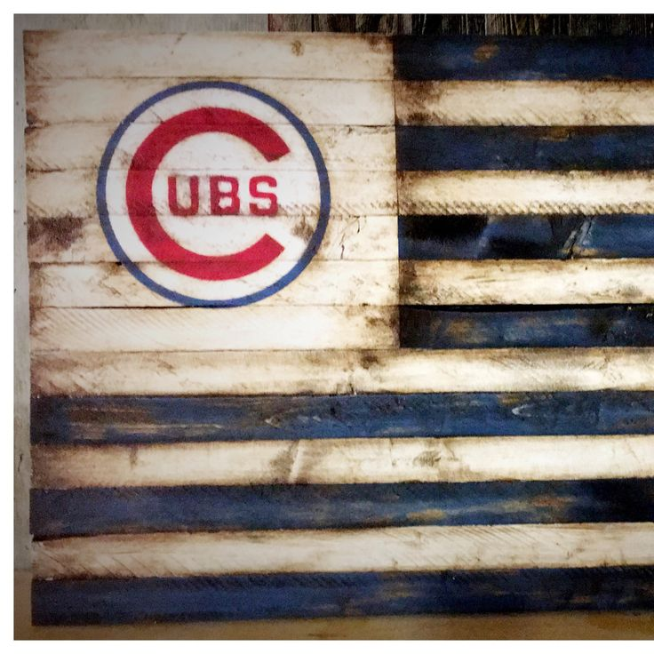 When I first designed this Chicago Cubs flag I knew I wanted it to look vintage. So I chose the Chicago Cubs logo from the 50s and 60s. I am proud to say that this Chicago cubs flag looks like it has existed since the 1950s.   SUCCESS!